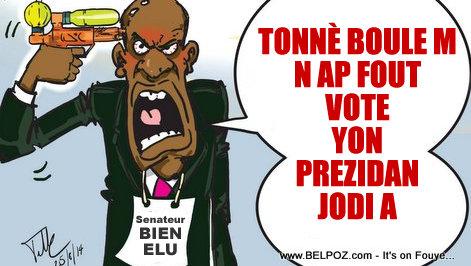 Haiti Caricature - Senateur Bien Elu Fache