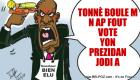 PHOTO: Haiti Caricature - Senateur Bien Elu Fache