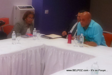 PHOTO: Haiti meeting - President Martelly and Fanmi Lavalas