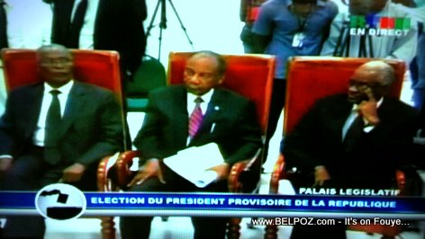 Les 3 Candidats a la Presidence Provisoire