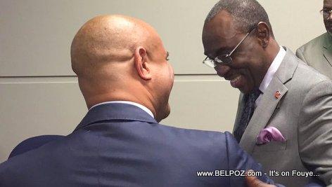 PHOTO: Haiti PM Evans Paul and PM Laurent Lamothe in Miami