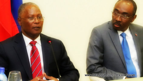President Jocelerme Privert - PM Evans Paul