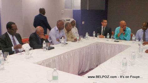 President Martelly Rankontre ak Pati Politik Opposition yo
