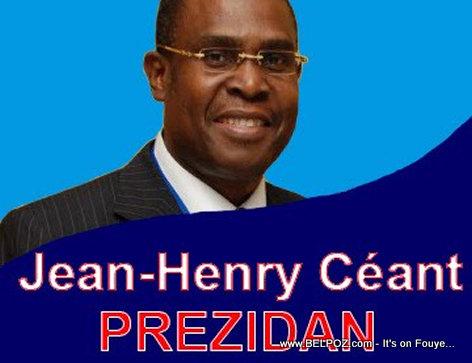 Jean-Henry Ceant - Candidat pou Prezidan Haiti an 2015