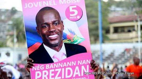 PHOTO: Haiti - Poster Campagne Jovenel Moise President