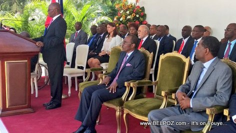 PHOTO: Haiti - President Privert at Primeture - PM Enex Installation