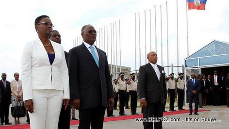 Haiti President Jocelerme Privert ap Kite Peyi a