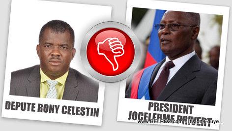 Depute Rony Celestin vs President Privert