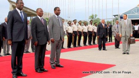 PHOTO: President Privert Leaving Haiti