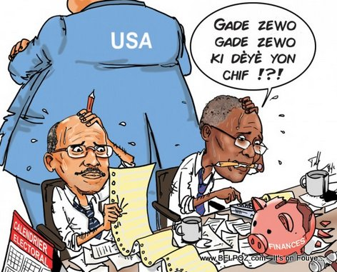 Haiti Caricature - Prix Election an, se De Men nan Tet