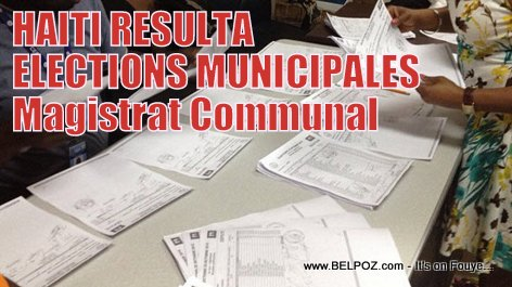PHOTO: Haiti Elections - Resultat Elections Municipales, Magistrat