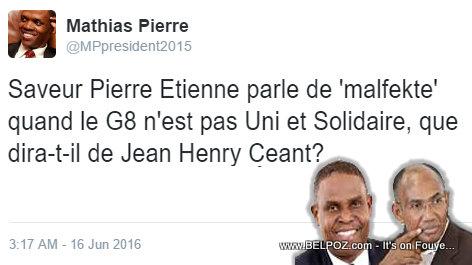 Haiti - Mathias Pierre Reaction @ Henry Ceant ki KITE G-8 La