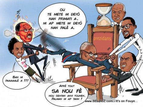PHOTO: Haiti Caricature - Prezidan Privert nan