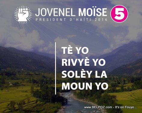 Jovenel Moise PAP bay vag, sanble... LOL...
