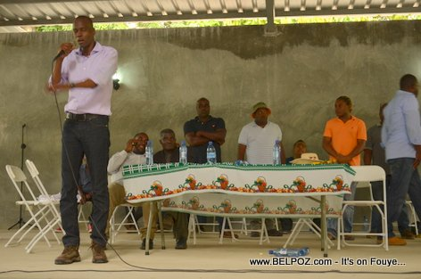 Jovenel Moise, PHTK Candidate for President - Pre-Campaign Meeting - Hinche Haiti