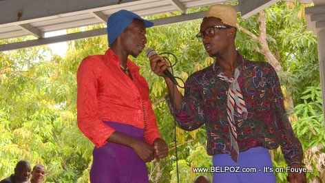Comedians at PHTK Pre-Campaign Meeting - Hinche Haiti