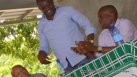 Depute Rony Celestin, Jovenel Moise - PHTK Pre-Campaign Meeting - Hinche Haiti