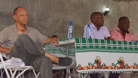 Georges Garnier, Jovenel Moise, Willot Joseph - PHTK Pre-Campaign Meeting - Hinche Haiti