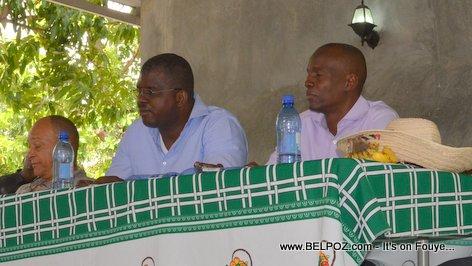 Georges Garnier, Rony Celestin, Jovenel Moise - PHTK Pre-Campaign Meeting - Hinche Haiti