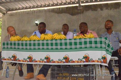 Georges Garnier, Rony Celestin, Jovenel Moise, Willot Joseph - PHTK Pre-Campaign Meeting - Hinche Haiti