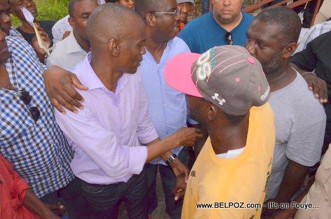 Haiti Election - Jovenel Moise, Candidat a la Presidence , ak Depute Rony Celestin, Candidat au Senat - PHTK Pre-Campaign Meeting - Hinche Haiti