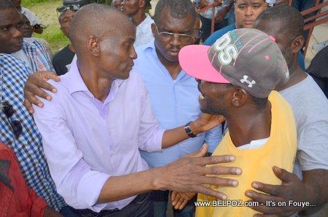 Candidat a la Presidence Jovenel Moise ak Depute Rony Celestin, Candidat au Senat - PHTK Pre-Campaign Meeting - Hinche Haiti