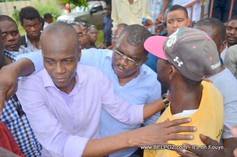 Jovenel Moise ak Depute Rony Celestin, Candidat au Senat - PHTK Pre-Campaign Meeting - Hinche Haiti