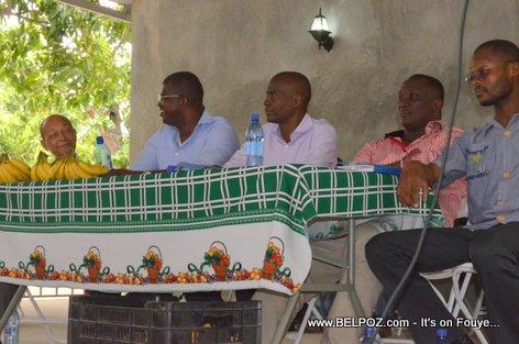 Jovenel Moise, Rony Celestin, Willot Joseph - PHTK Pre-Campaign Meeting - Hinche Haiti