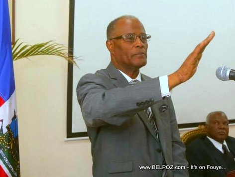 PHOTO: Haiti -  Judge Jules Cantave Swear in as president of Supreme Court of Cassation